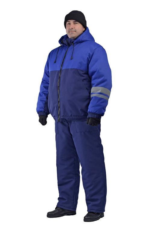 Костюм мужской зимний Сапфир брючный т-синий с васильковым Ursus, КОС155-002