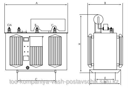 Трехфазный шунтирующий масляный реактор ТИПА РТМ