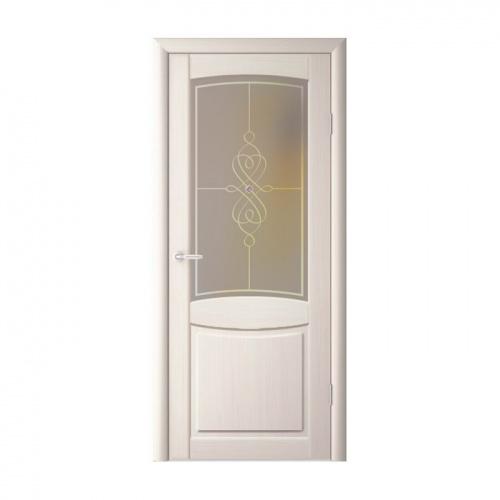 Купить Двери межкомнатные Альберо Сапфир кедр белый стекло