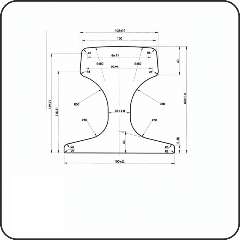 крановые рельсы КР120