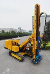 The hydraulic drilling rig on caterpillar to the