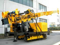 The hydraulic unit for drilling of water wells on