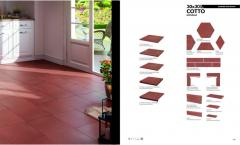 Tile wall and floor for finishing of facades