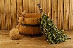 Brooms for a sauna