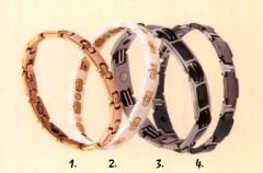 Titanic magnetic bracelet of Whait (white)