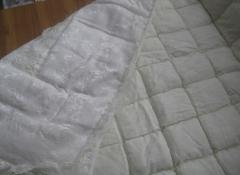 Quilts with a heater from a synthetic winterizer