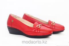 Туфли женские красного цвета 18032 Forelli
