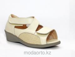 Ортопедические сандалии светлые 6928 Lady Comfort