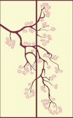 Стекло с рисунком Деревья