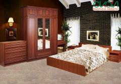 Спальня Соня с антресолью орех италия