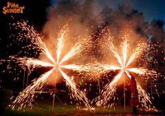 Pyrotechnic installation -