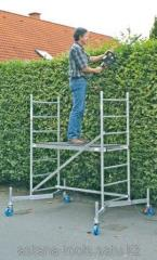 Mobile scaffolding, platform 1m heigh