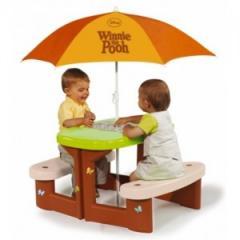 Столик Winnie для пикника с зонтиком Smoby