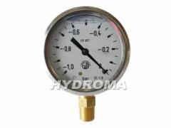 Vacuum meter 63mm,-1 bar, RADIAL FITTING