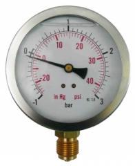 Вакуумметр DIAM. 100mm, -1+3bar, G1/2,RADIAL