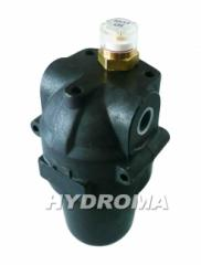 Filter pressure head average pressure of