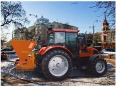 SPREADER OF DEICING MATERIALS (FERTILIZERS) OF