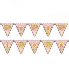 Garland pennant Happy birthday Kid girl of 210 cm