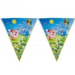 Smeshariki's garland pennant of 360 cm And