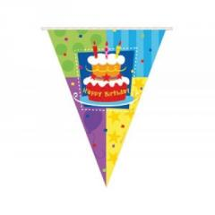 Garland pennant Birthday Cake of 360 cm of G