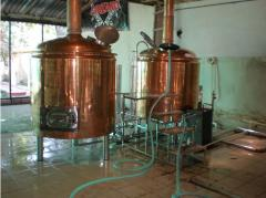 Breweries are restaurant, copper, the equipment for production of beer