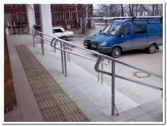 Handrail is stree