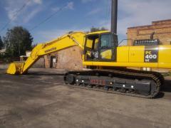 Rent of the Komatsu PC400 excavator