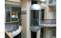 The elevator is panoramic capsular