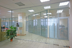 All-glass protection for division of office into