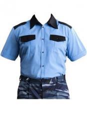 Рубашка для охранника - цвет голубой