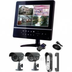 Комбинированный видеодомофон FE-924KIT 1 панель и 2 камеры Falcon Eye