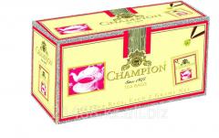 Champion, black tea, tea bags Packaged