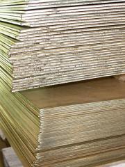 Brass sheets (0,9; 1; 1,5; 2,0; 3,0; 3,5; 4; 5;