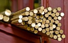 Brass d 6,7,8,9 hexagons, Brass hexagons