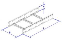 Ladder trays 100 mm high, Trays of ladder type