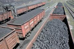 Coal supply large wholesale on the car