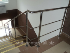 Handrail from stainless steel