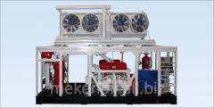 Stationary compressor stations