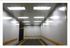 The freight elevator for transportation of cars