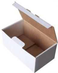 Boxes from the corrugated cardboard by the