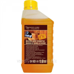 Oil for protection of shelves in bath and sauna of