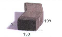 Плитка тротуарная Чешуя, 130х198х70 мм, серая