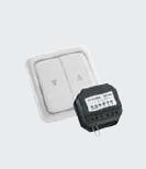 Radio transmitter for mounting under plaster