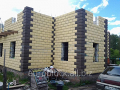 Construction blocks with thermal insulation