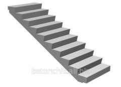 Ladder step reinforced concrete