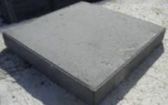 Concrete sidewalk plate