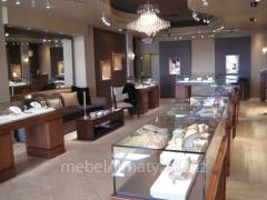 Jeweler show-windows of Almaty