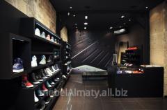 Show-windows for the Almaty footwear