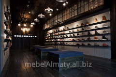 Furniture for shoe boutiques of Almaty