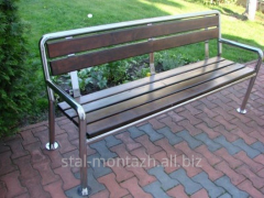 Benches from stainless steel